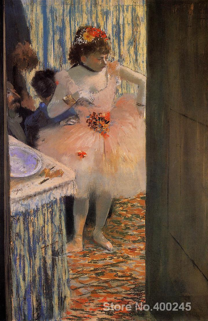 oil paintings Portrait Dancer in her dressing room by Edgar Degas modern art High quality Hand paintedoil paintings Portrait Dancer in her dressing room by Edgar Degas modern art High quality Hand painted