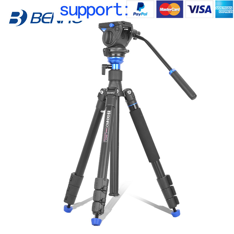 Benro AERO 4 A2883FS4 tripod Video Tripod Kit Professional Aluminum For Video Camera Videotape Dual-use benro c38tds2 carbon fiber tripod kit bird watching monopod kit professional video camera slr tripod stable support for canon