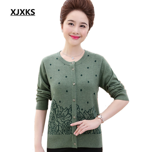 XJXKS Women Cardigans And Sweaters Exquisite Workmanship Round Neck High  Quality S-5XL Full Sleeve 6a0c56b42