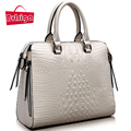 BVLRIGA Genuine leather bag women messenger bags handbags women famous brands Crocodile pattern shoulder bags designer totes