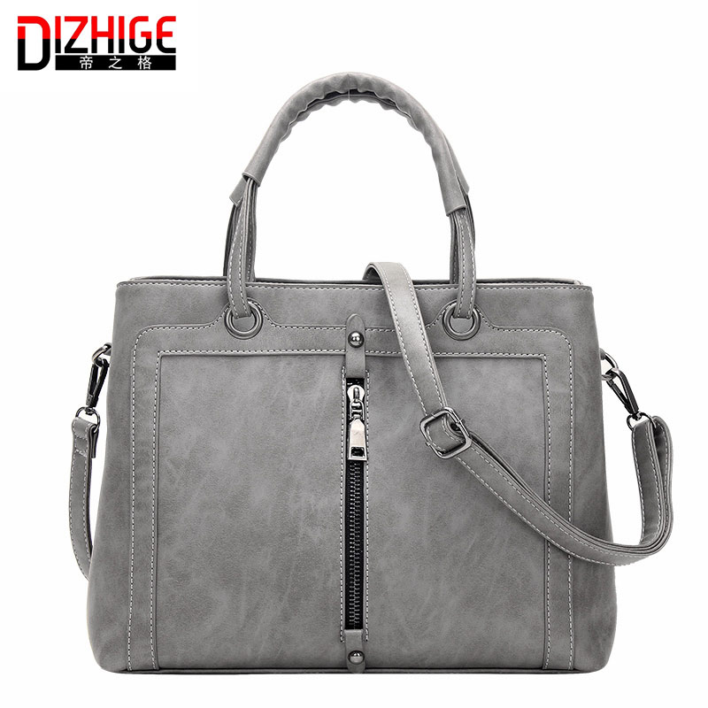 Fashion Double Zipper Women's Handbags Famous Brands Designer Handbags High Quality PU Leather Ladies Large Hand Bags Shoulder