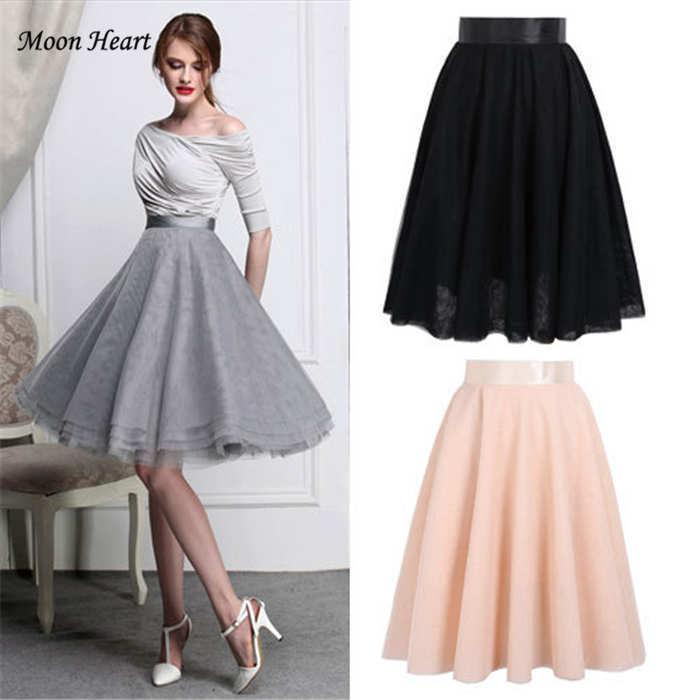 a668a6628b 6 Layers Casual Women Skirt New Fashion 2015 Winter Spring Cute High Waist  Mesh Pleated Tutu Skirt Ladies Girl Skirt en Faldas de La ropa de las  mujeres en ...