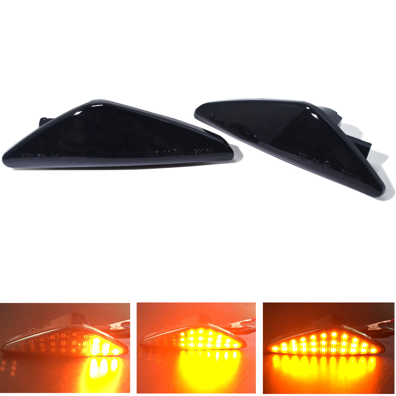 2Pcs Dynamic LED Car Turn Signal Light indicator for BMW F25 X3 E70 X5 E71 X6 Side Marker Light Left Right Amber in Signal Lamp from Automobiles Motorcycles