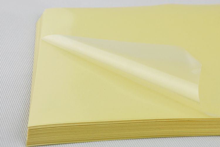 21*29.7cm 20Pcs Clear PET Self-Adhesive Printer A4 Kraft Paper Sticker For Party Wrap 8.3x11.7