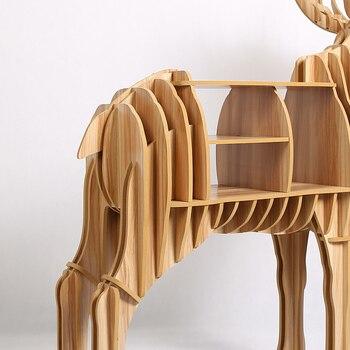 Bureau Avec étagère | 1 Set 2016 Nouveau Art Meubles De Bureau En Bois Creative Moose Bibliothèque Bois Artisanat Pour Art Maison Meubles Décoratifs