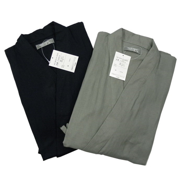 Pajamas For Men 100% cotton double layer gauze kimono Pajama Sets bathrobe sleepwear lounge Pajamas
