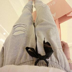 Image 3 - Pantalones Harlan de talla grande para mujer, pantalón informal de lentejuelas elásticas, aumento de tamaño de 200 libras, para primavera y otoño, MZ1104