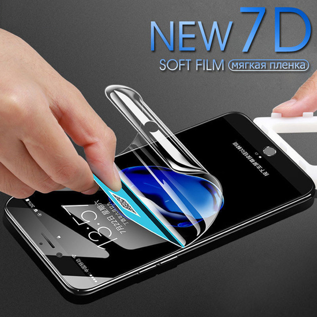 7D Screen Protector Hydrogel Film For iPhone XS Max X 7 8 6 6S Plus 5 5S SE XR Full Cover Soft Screen Protector Films Not Glass 32891657792