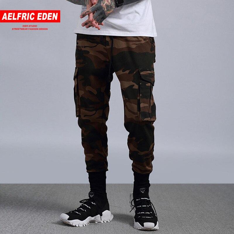Aelfric Eden Men Jogger Fashion Sweatpants Multi-pocket Camo Cargo Pants Man Slim Fit Feet Hip Hop Harem Pants Wild Casual Pants basic pump
