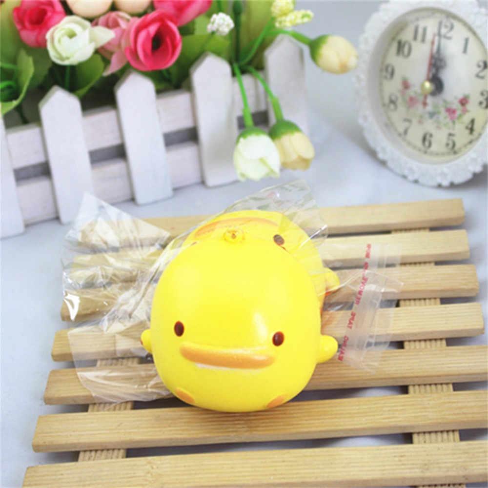 2019 Hot Squishy lindo pato amarillo pan teléfono correas Slow Rising Bun encantos regalos juguetes Envío Directo