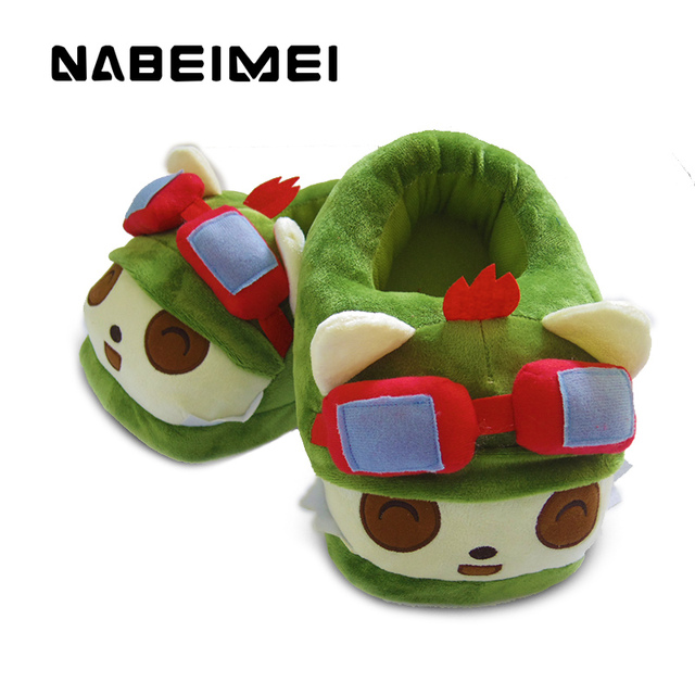 Solid green LOL Timoly totem unicornio home slippers ladies shoes plastic indoor winter warm women slipper big size 35-43