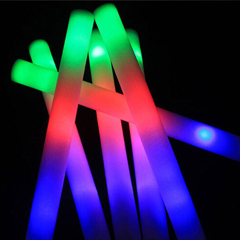 10Pcs/Lot 2016 new 48cm colorful glow light sticks tuba sponge foam Flash stick Halloween Christmas Concert Party Supplies toys