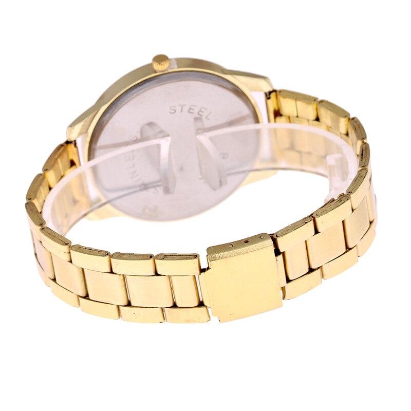 Uhren & Schmuck Schlussverkauf Yellow Gold Bling Stainless Steel Unisex Watch
