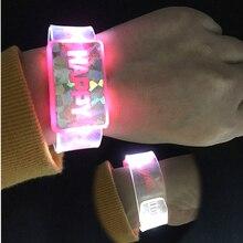 1 LED bracelets&bangles Light up toys 2015 Bracelet flashing wrist band for christmas Festival event party supplies