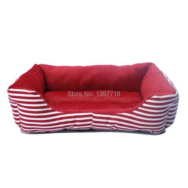 Us 1053 15 Offklasyczny Pasek Pet Dog House Cat Bed Psy łóżka Płótnie Gąbka Pet Products Wyściełane Cama Para Cachorro Hondenmand Dla