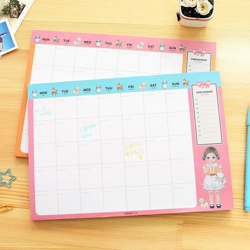 Escritorio Coj N De Nota Semanal Mensual Planificador To