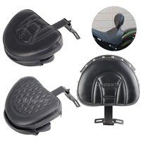 4 Types Motorcycle Plug In Driver Rider Backrest Cushion Pad Detachable Adjustable For 2007 2017 Harley Fatboy /Heritage Softail
