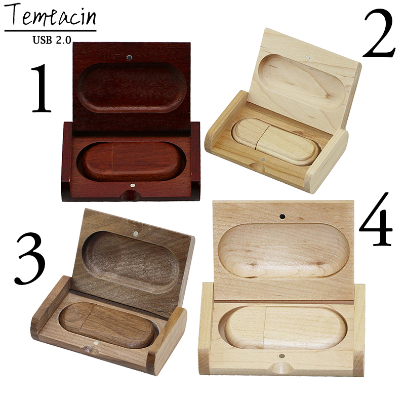 Wooden Box USB Flash Drive 32G 4GB 8GB 16GB USB Stick Memory Card USB Drive USB Falsh Disk Thumb Drive