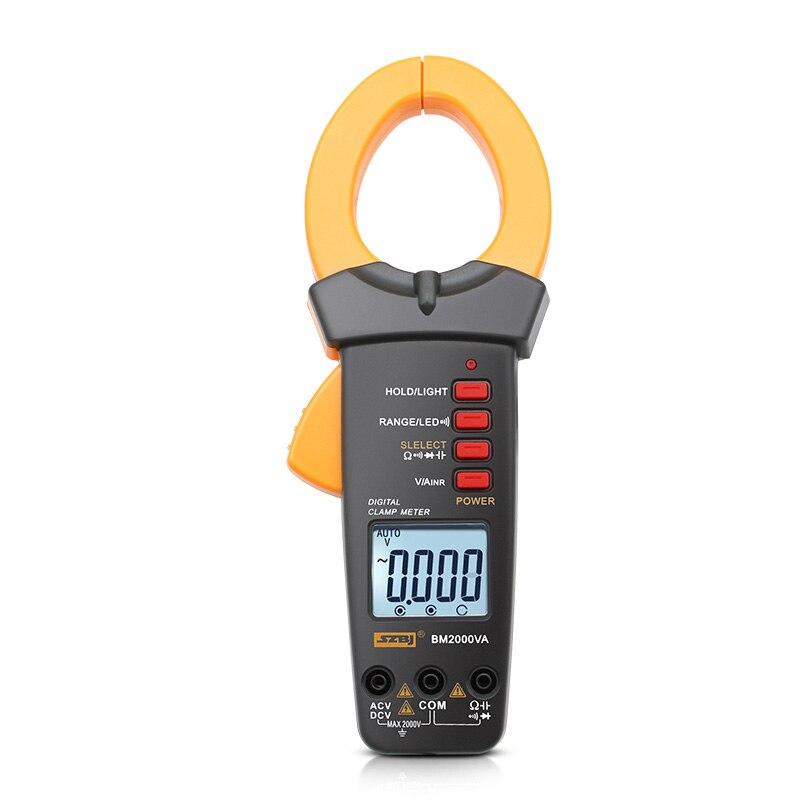 SZBJ BM2000VA pince multimètre 2000V 2000A AC avec pince de surtension multimètre anti brûlure mise hors tension automatique haute précision condensateur ampèremètre