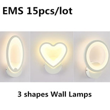 15Pcs/lot Energy saving Wall Lamp Sconce Home Modern Lighting Sconces luminaire Deco Stairs Acrylic Indoor LED Lights