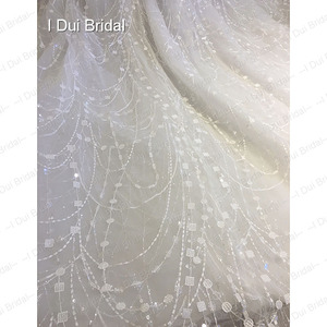 Image 5 - Shinny Bling Wedding Dress Bridal Gown V Neck Ball Gown Illusion Button Back
