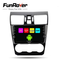 Funrover Octa core android 8.1 car dvd multimedia player For Subaru Forester XV WRX 2012 2018 2 din radio stereo DSP 4G 64G SIM