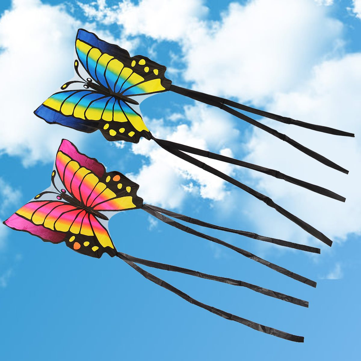 Children's Butterfly Kite Easy to Fly Single Line Kite Tail 1.5M Outdoor Funny Sports Toy Gift Funny Sport Outdoor Playing Toys 16 colors x vented outdoor playing quad line stunt kite 4 lines beach flying sport kite with 25m line 2pcs handles