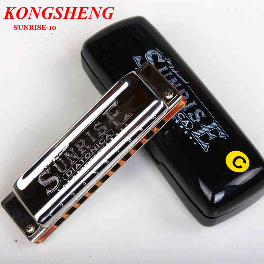 KONGSHENG Diatonic 10 Holes Harp Harmonica Blues Maple Comb Wind Musical Instrument Mouth Organ Gift Kid Beginner C/A/D/E/F/G/Bb цена