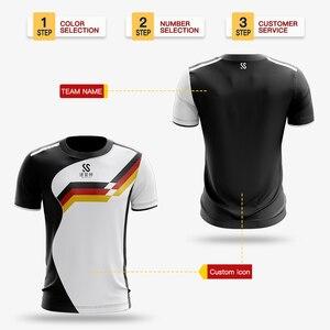Image 4 - カスタム男性/女性スポーツドライ通気性バドミントンシャツ、卓球チームゲームトレーニングエクササイズフィットネススポーツ Tシャツ