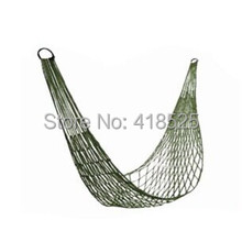 10pcs/lot High Quality Outdoor Travel Camping Hammock Sleeping Bed Garden Portable Nylon Hang Mesh Net 200*80cm Army Green