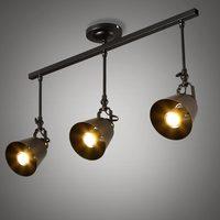 Industrial Chandelier Vintage Lamp Ceiling Led Lights For Home Decor Living Room Lighting White Black Wrought
