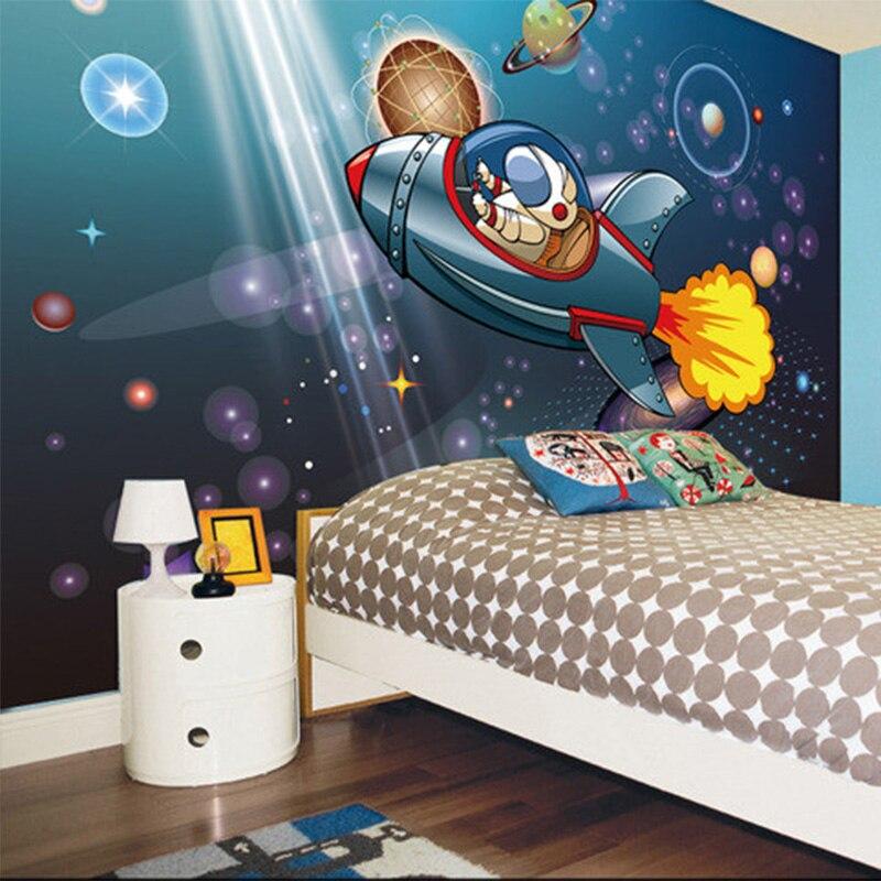 ... Space Shuttle Astronaut Boy Cartoon Children Room Backdrop Wall Mural  Photo Wallpaper Custom 3D Non  ... Part 81