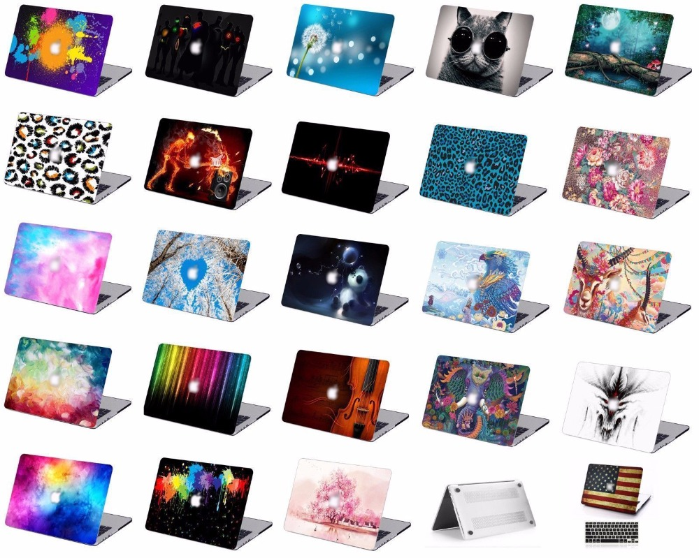 Print Pattern Protective Hard Shell Case Keyboard Cover Skin Set For Fit 11 12 13 15 16