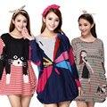 Nueva primavera ropa otoño ropa de maternidad embarazadas mujeres dress impreso suéteres sueltos vestidos de maternidad