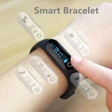 0.86 дюймов OLED Экран Bluetooth Smart пульсометр здоровья Браслет фитнес трекер анти-потерянный SmartBand