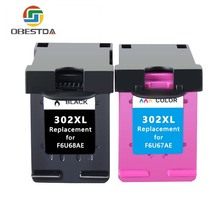 Obestda Compatible 302XL Refill Ink cartridge replacement for hp302 for HP 302 xl for Deskjet 1111 1112 2130 2135 1110 3630 363