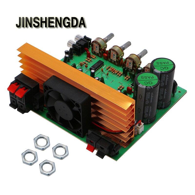 JINSHENGDA font b Amplifier b font Dual AC 24V In 2 1 Channel Digital font b
