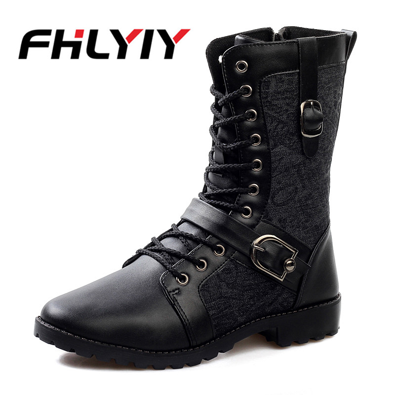 Men Boots Leather Martin Autumn Winter High Top Ankle Boots Western Fashion Motorcycle Dress Boots Cowboy Black Lace Up Men Shoe 2018 new spring autumn fashion martin boots male high top casual canvas motorcycle boots flats lace up ankle army boots qa 05