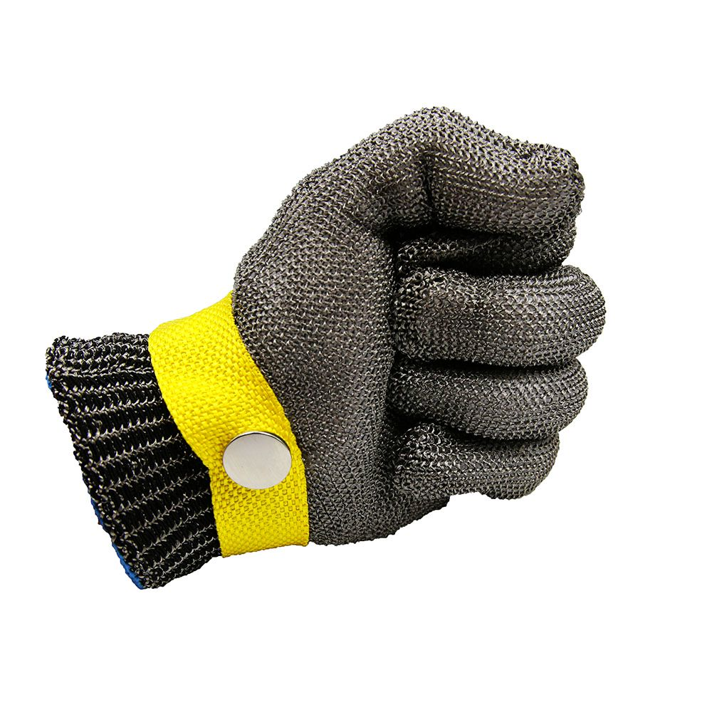 Safety Metal Cut Proof Stab Resistant Stainless Steel Mesh Cotton Glove Size S Stainless Steel Metal Mesh Butcher Cutting