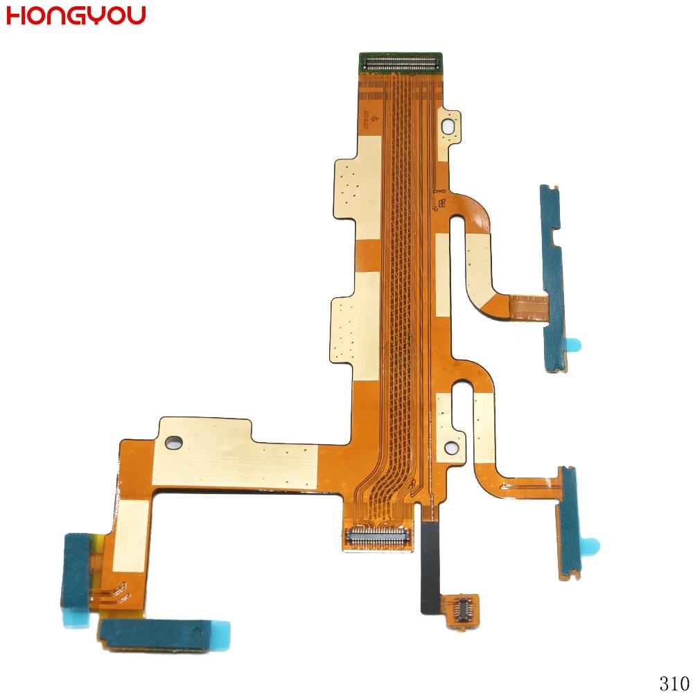 Interruptor de Botão de energia de Volume Botão Mute On/Off Cabo Flex Para Sony Xperia C3 S55T S55U D2502 D2533