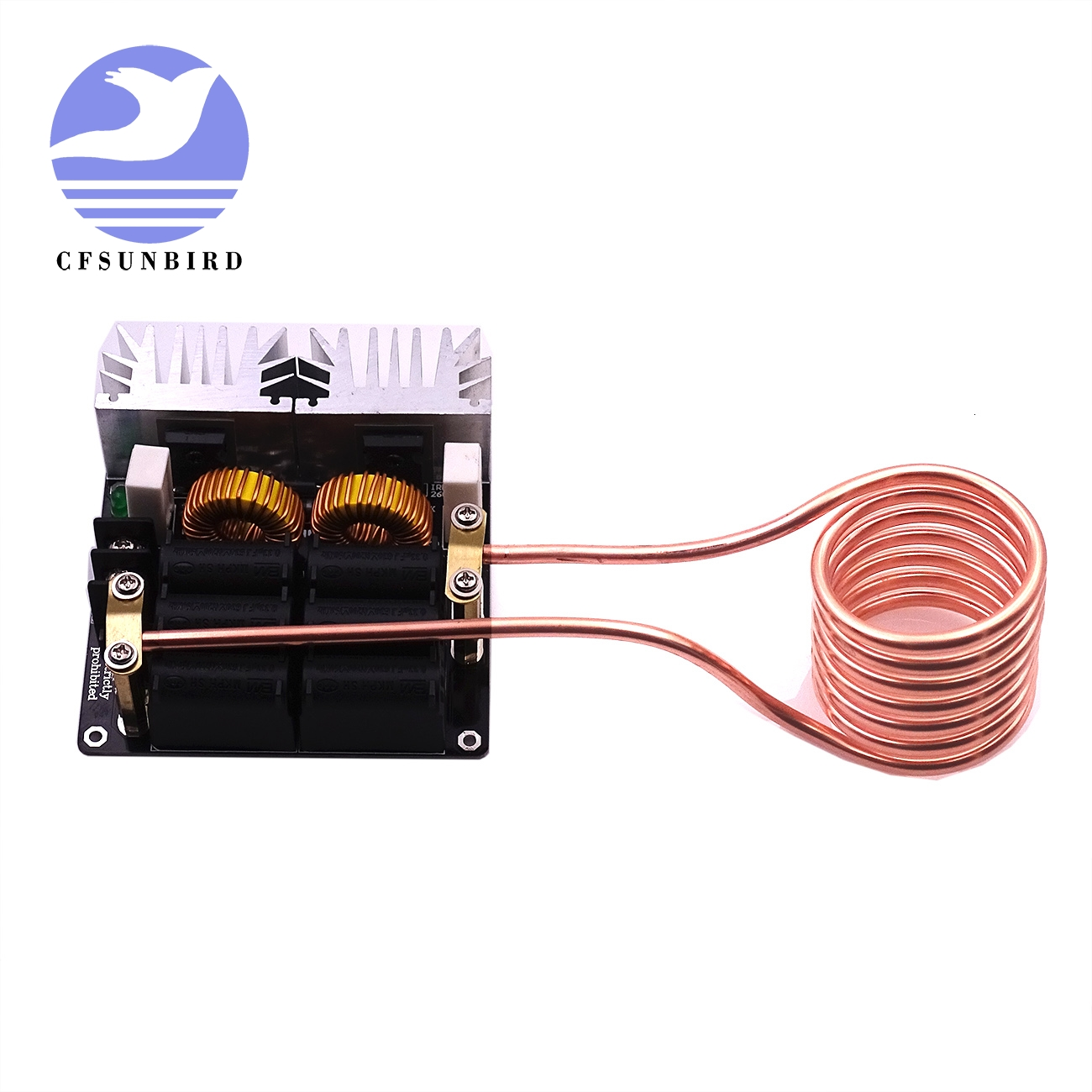 CFsunbird 1Set 20A 1000W 12V-48V ZVS Low Zero Voltage Induction Heating Board Module Flyback Driver Heater High Power For DIY
