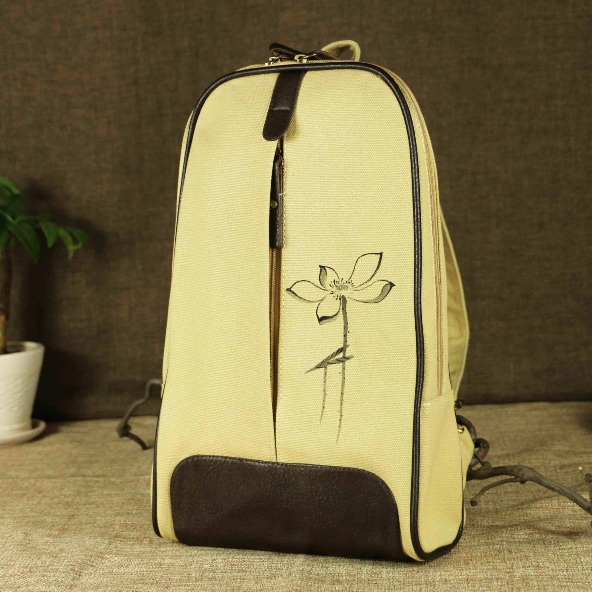 New Chinese Ethnic Style Hand-painted Backpack Travel Backpack Laptop Backpack