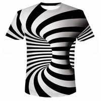 Neueste Sommer Stil Mode Druck Kurzen ärmeln Tees Männer Schwarz Und Weiß Vertigo Hypnotischen bunte Druck 3D T hemd S-6XL