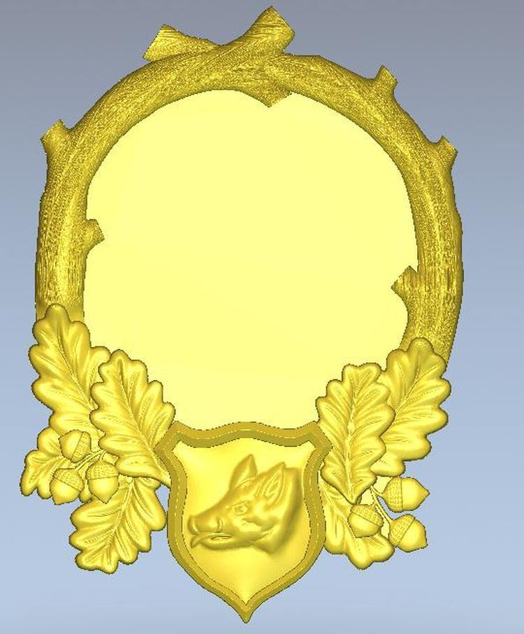 3d Model Relief  For Cnc In STL File Format Locket_4
