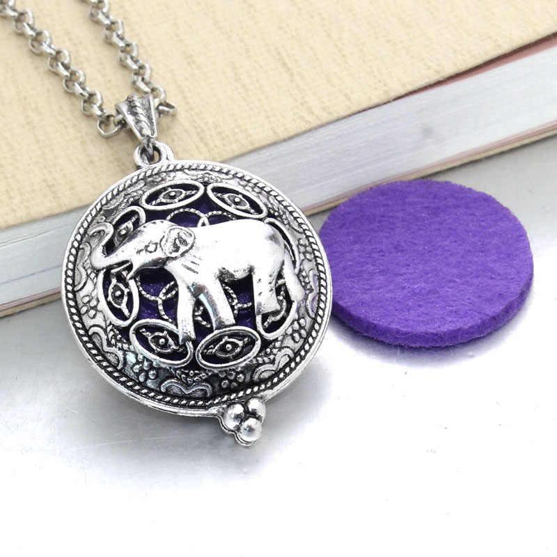 1 sztuk rozpylacz zapachów naszyjnik otwarte antyczne zabytkowe medaliony wisiorek perfumy olejek aromaterapia medalion naszyjnik z klocków