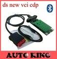 Con Verde Nec relés ds nueva vci tcs CDP + bluetooth función cdp pro multi-marca obd obd2 scan herramienta de trabajo para los carros de los coches 3in1