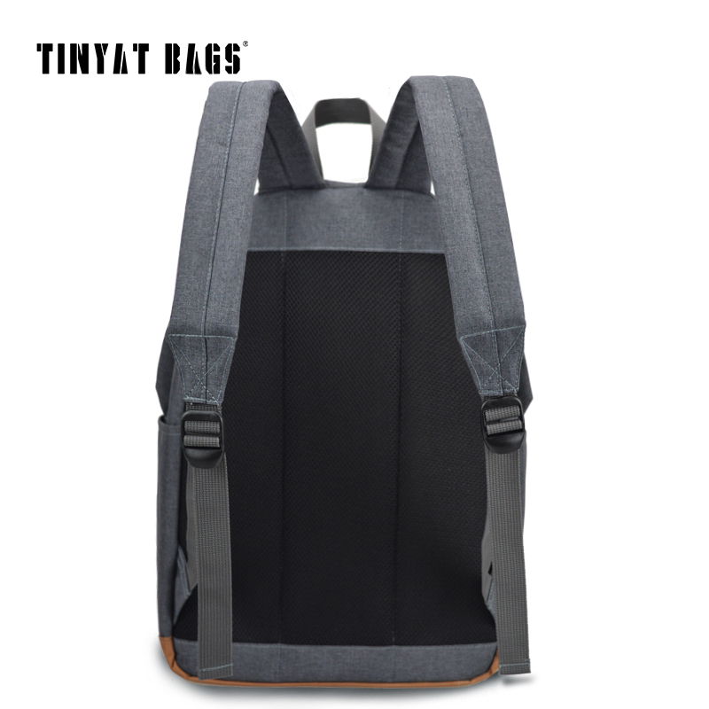 TINYAT Men's 15 inch laptop backpack computer male school backpacks rucksacks leisure for teenage Travel Women Shoulder Mochila  4
