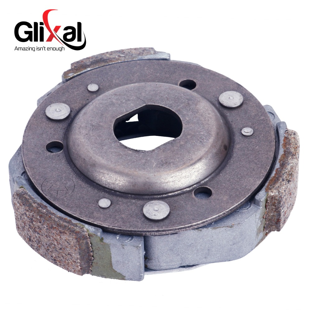 Glixal GY6 125cc 150cc Rear Clutch Shoe Plates for 152QMI 157QMJ Engine Scooter ATV Go-Kart Quads Buggy Moped