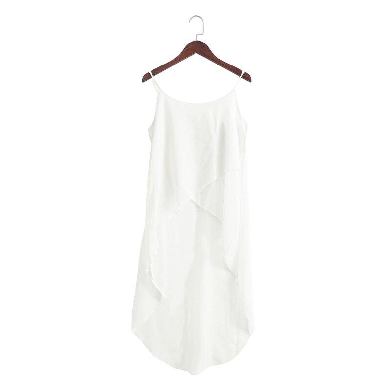 Summer Women Dress Robe Sexy Casual Sling Strap Chiffon Beach Vestido
