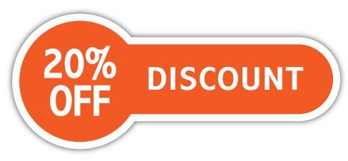 Скидка 12,5x5 см скидка 20%, бирка для продажи, самоклеющаяся наклейка для магазина, артикул PD10 - Цвет: Белый